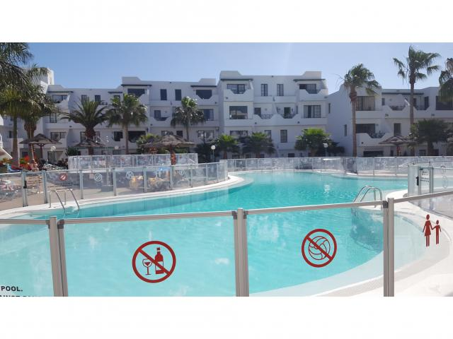 A lovely spacious 1 bedroom apartment on a quiet complex in puerto del carmen. Lanzarote.Comprises of open plan, living, kitchen & diner Good size bathroom  X1 double bedroom  A double sofa bed Patio