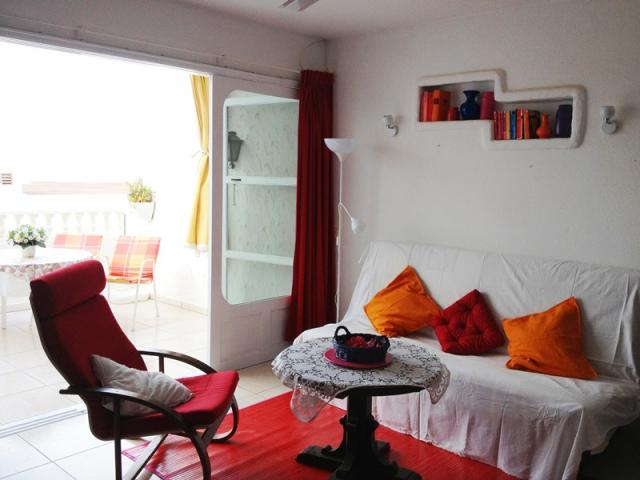 French window on the terrace - Lovely Seaview Apartment , Puerto del Carmen, Lanzarote