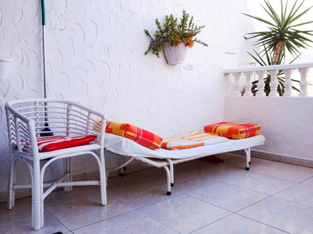Relaxing corner with 2 loungers - Lovely Seaview Apartment , Puerto del Carmen, Lanzarote