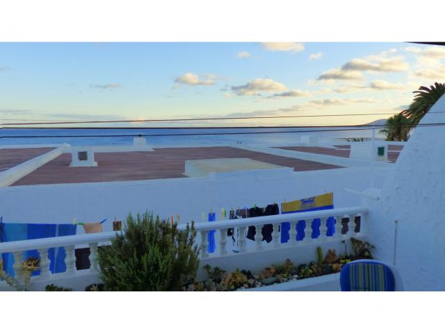 Evening view from the terrace - Nice Seaview Apartment, Puerto del Carmen, Lanzarote