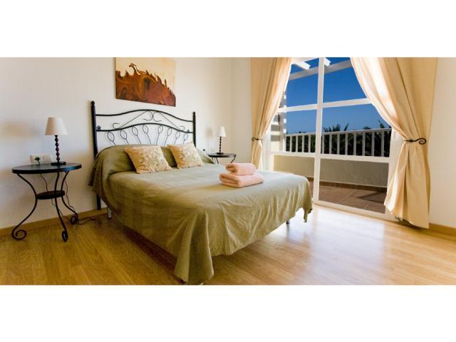double bedroom with patio doors - Villa Clara, Costa Teguise, Lanzarote