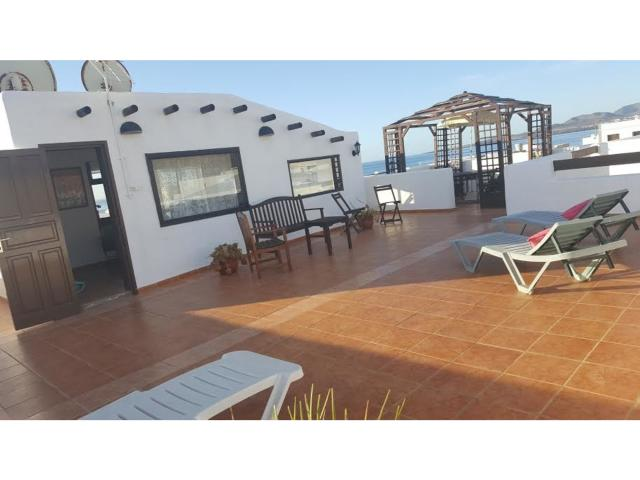 2 bedroom apartment set over two floors with a vast roof terrace. Fabulous views of the sea and mountains. Located in the village of Punta Mujeres