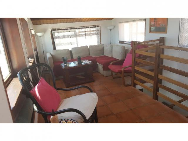 Roof top lounge - 2 bed, sea view apartment, Punta Mujeres, Lanzarote