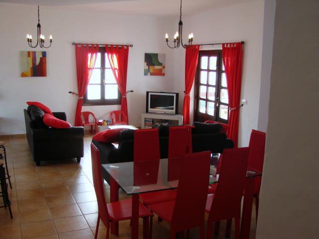 Dining Area - 3 bedroom villa apartment, Punta Mujeres, Lanzarote