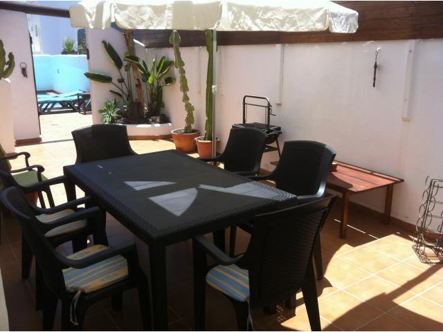 BBQ area  - 3 bedroom villa apartment, Punta Mujeres, Lanzarote